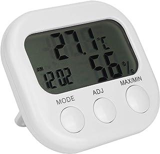 Termohygometer Digital hygrometer Termometer Termometer Väckarklocka Bärbar Lätt att använda Lätt att installera Slitstark...