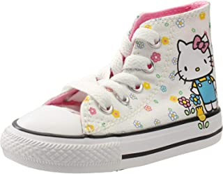 a2f711f46d2591 Converse Chuck Taylor All Star Hello Kitty Hi White Pink Textile Baby  Trainers Shoes