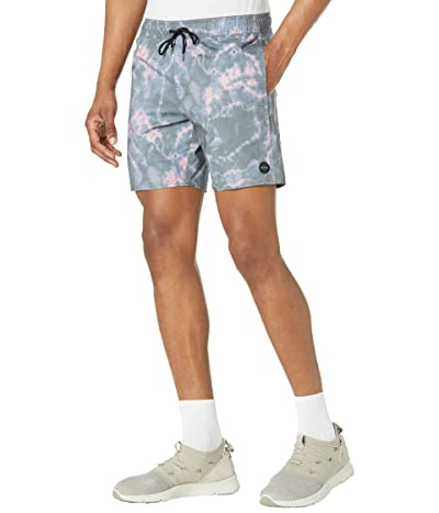 RVCA Controller Elastic Shorts (Black Dye) Men