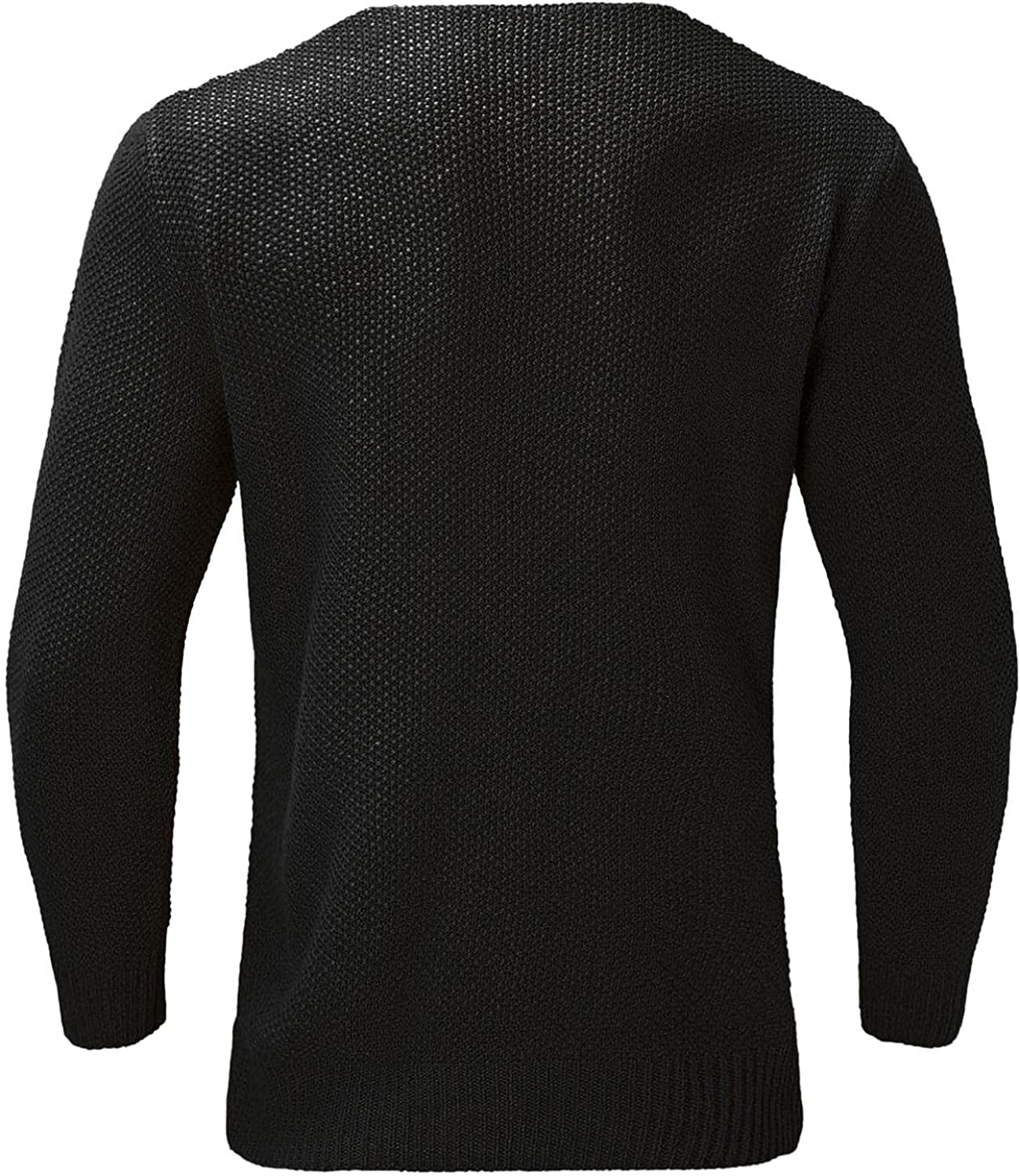 VEKDONE Men's Cashmere Wool Blend Relaxed Fit V Neck Pullover Sweater Autumn and Winter Stretch Long Sleeve Outerwear