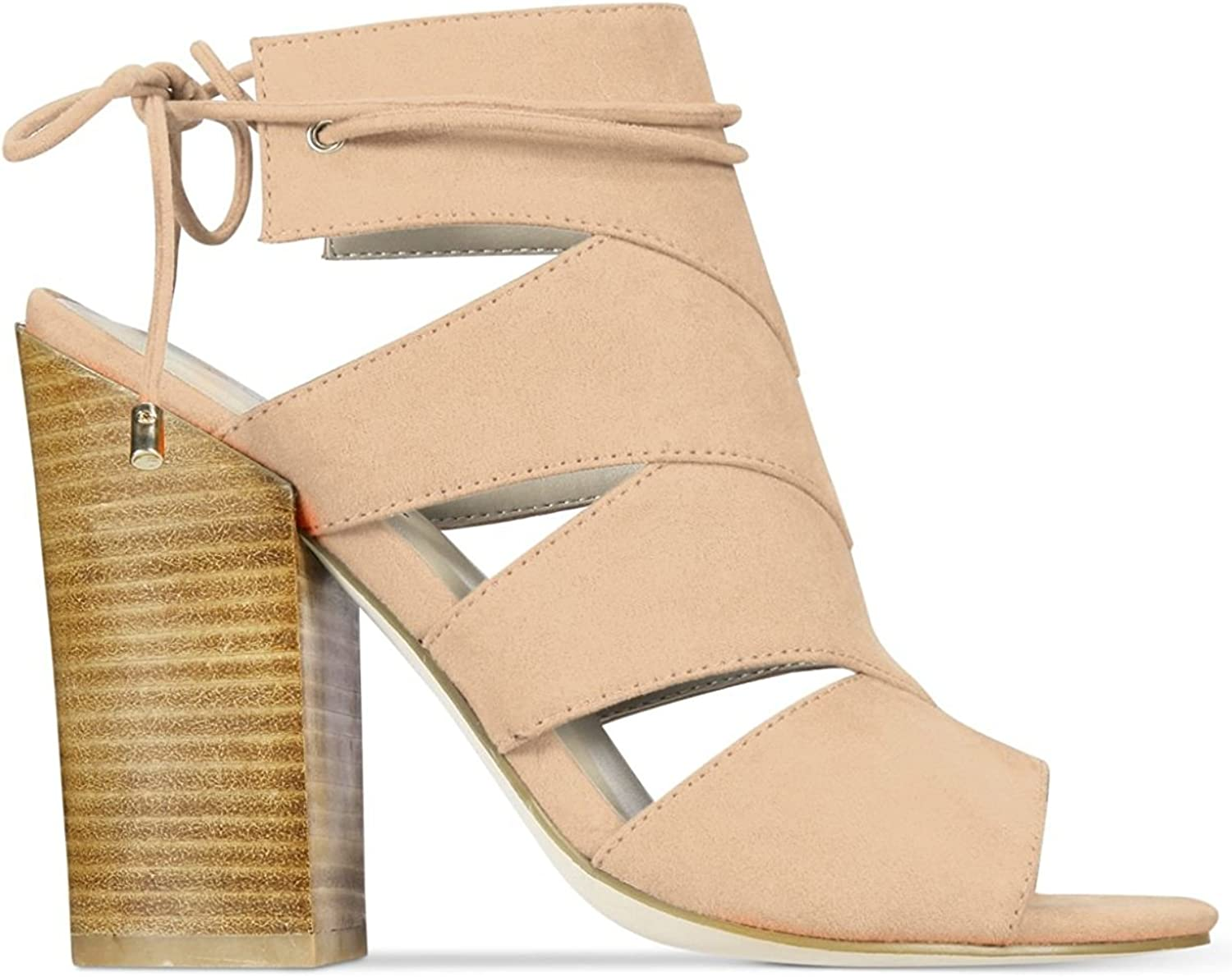 Call It Spring Womens Asadolla Suede Open Toe Casual Ankle Strap Sandals