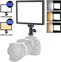 Neewer Camera LED Video Light - SMD LED Light Panel for Softer Lighting Photography, 3200K to 5600K Variable Color Temperature and Dimmable Light, Ultra Thin, T100 (Battery NOT Included)
