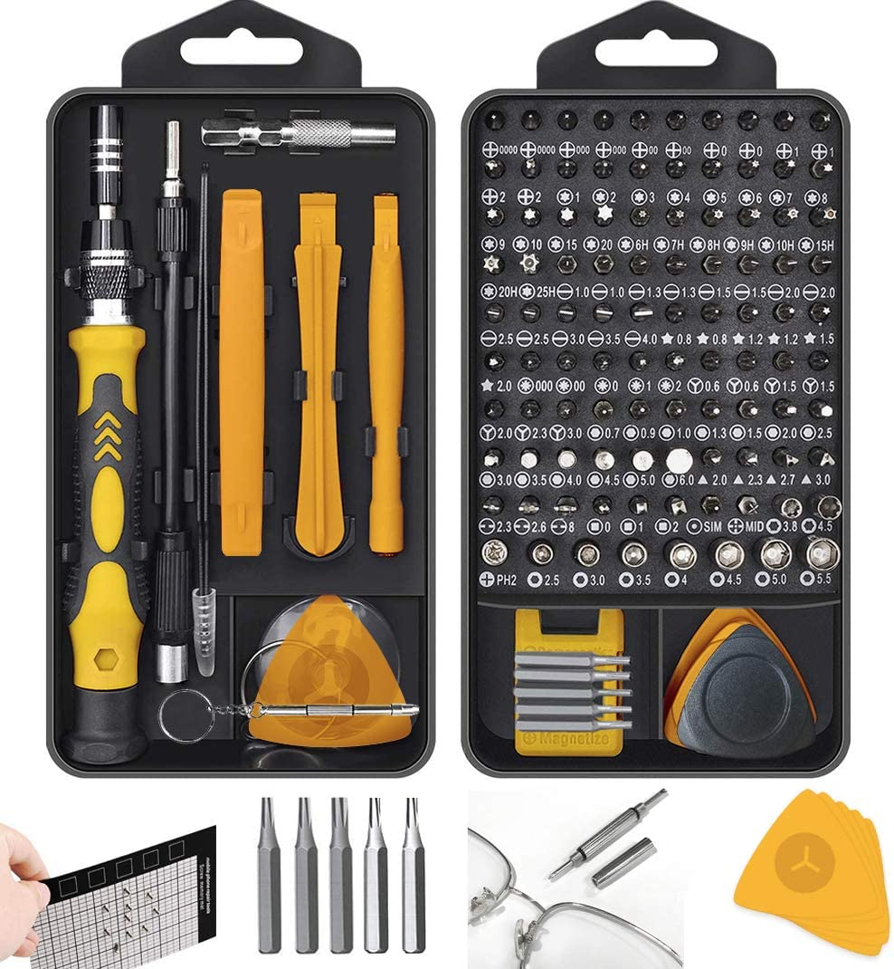 Mini Screwdriver Set DIY Repair Tools Kit with Case and Anti-Slip Handle Small Screwdriver Kit for iPhones,Laptops,Watch,Glasses,PS4,PC Hevanto 130 in 1 Precision Screwdriver Set