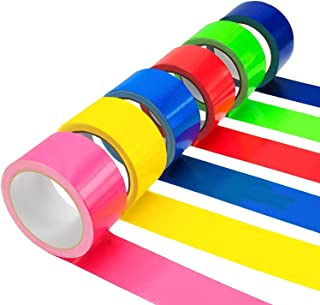 Colored Duct Tape Multi Pack | 2 in x 30 FT Per Roll (Total 180 FT) | Decorative Duct Tape Colors | Water Proof Duct Tape ...