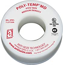 Anti-Seize Poly-Temp 16035 PTFE Medium Density Thread Seal Tape, -400 to 550 Degree F Performance Temperature, 520