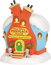 Department 56 The The Grinch Village Flue Who's Fireplace Place Lit Building, 8.5