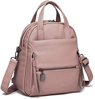 Backpack Purse, Kasqo Women Convertible Faux Leather Ladies Shoulder Bag