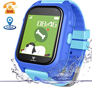 Lsflair GPS Tracker Kids Smart Watch - IP70 Waterproof Smart Watches Phone Support Fitness Tracker SOS Anti-Lost Voice Chat Camera Games Watches for Children Boys Girls Birthday Gifts