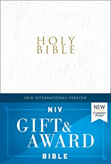 NIV, Gift and Award Bible, Leather-Look, White, Red Letter Edition, Comfort Print