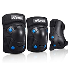 Knee Pads Kids, Protective Gear Set Knee Pads Elbow Pads Wrist Guards 3 in 1 Skateboarding Inline Roller Skating Cycling Biking BMX Ski Scooter