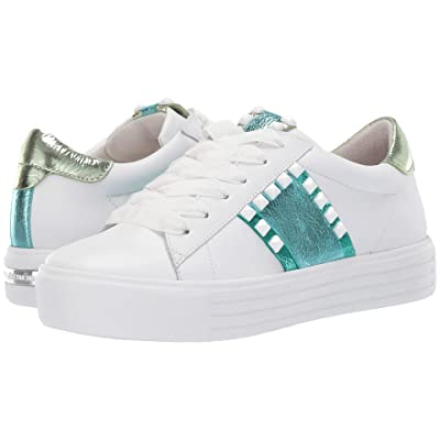 Kennel & Schmenger Up Two-Tone Sneaker (Bianco Combo Calf) Women