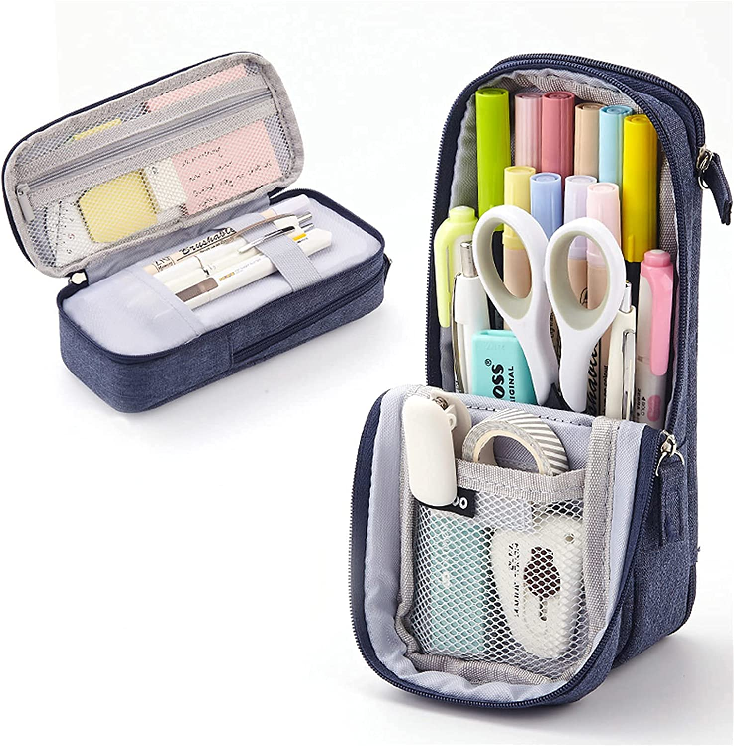 Big 1 year OFFicial warranty Capacity Pencil Case Standing Mult Holder