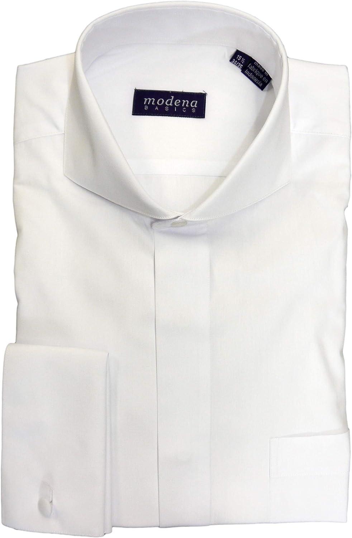 Modena Men's Cutaway Collar French Cuff Dress Shirt
