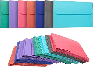 100 Pack A4 Envelopes - 4.25 x 6.25 Inches - Square Flap Photo Envelopes - Invitation Envelopes for Wedding Invitations - 100GSM, Assorted Colors