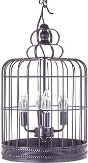 Top Lighting Antique Black 3-Light Metal Birdcage Chandelier Hanging Pendant Ceiling Lamp Fixture