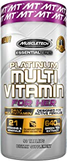Muscletech Essential Series Platinum Multi Vitamin for Her, 90 Count