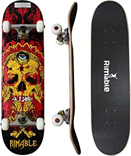 RIMABLE Complete Maple Skateboard 31 Inch