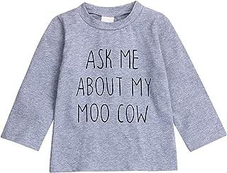 Toddler Kids Boys Girls T-Shirt Classic Letter Printing Short Sleeve