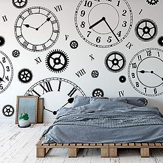 c62e3604c1c5 Alice Wonderland Clocks Removable Wallpaper Pattern (6 Sheet Pack (2x9  Feet))