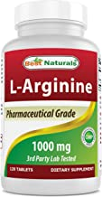 (New Improved Formula) Best Naturals L-Arginine 1000 mg 120 Tablets - Pharmaceutical Grade L Arginine Supplement Promotes ...