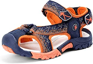 1c64ffafd753a6 JACKSHIBO Girls Boys Summer Beach Breathable Athletic Closed-Toe Sandals  Kids(Toddler Little