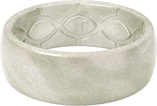 Groove Life - Silicone Ring for Men and for Women Wedding or Engagement Rubber Band with Lifetime Coverage, Breathable Grooves, Comfort Fit, and Durability - Original Metallic