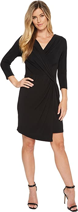 Karen Kane 3/4 Sleeve Crossover Dress