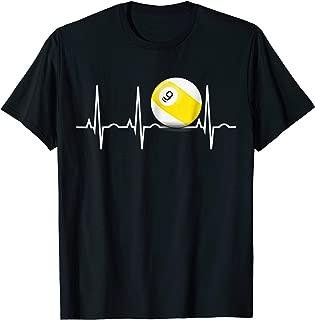 9 Ball Shirt - Pool Player Nine Ball Heartbeat Gift T-Shirt