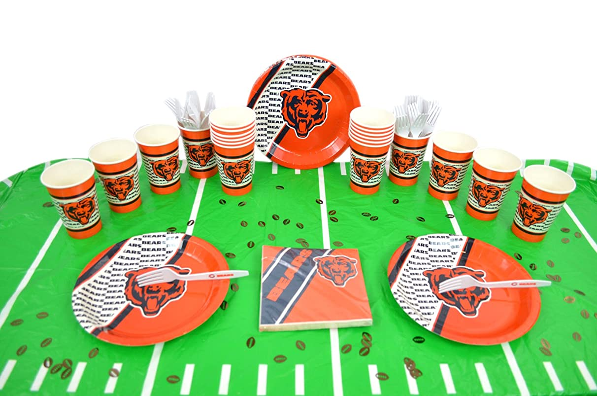 Duck House Official National Football Fan Shop Authentic NFL Tailgate Party Kit Bundle for 20 Fans - Table Setting and More