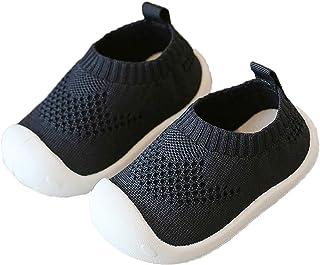 Unitysow Chaussure Bébé et Bambin Fille Garçon Premier Pas Chaussures Semelle Souple Antidérapants Maille Pantoufles Enfan...