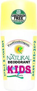 KIDS 100% Natural Organic Healthy Roll On Deodorant for Children Healing Detox Aluminum-Free Carcinogen Free Certified Vegan Paleo Keto Rollon non-toxic no chemicals