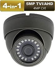 Anpviz CCTV Dome Camera 4-in-1 (5mp TVI, 5mp AHD, 4mp CVI, CVBS) Security Dome Camera, 65ft IR Day/Night, Weatherproof IP66 Surveillance Camera 3.6mm Lens (5mp Black)