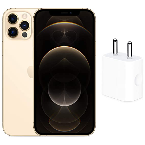 New Apple iPhone 12 Pro (128GB) - Gold with Apple 20W USB-C Power Adapter