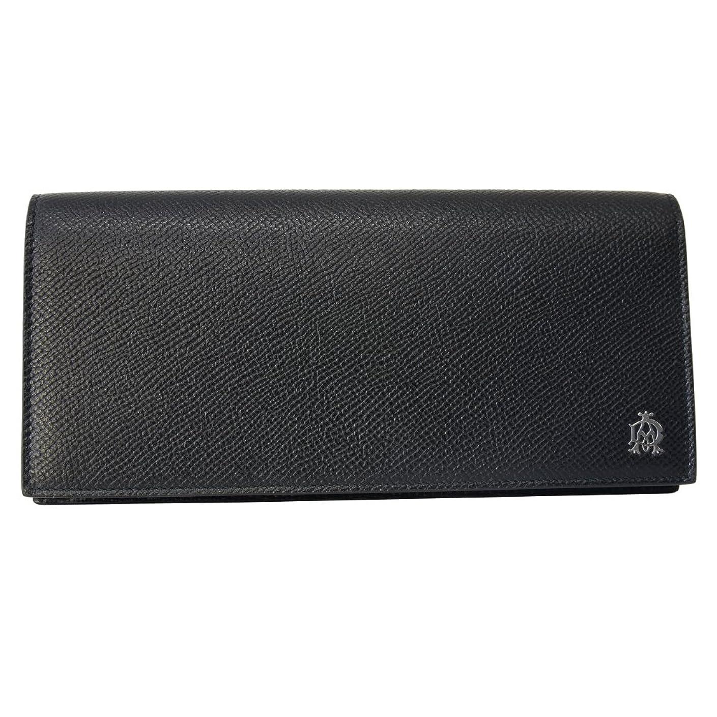 アロングきらめきピアノ[ダンヒル] DUNHILL 長財布 L2AC10A 二つ折り長財布 かぶせ蓋 フラップ ウォレット CADOGAN カドガン BLACK [並行輸入品]