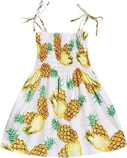 GRNSHTS Kids Baby Girl Summer Sunflower Dress Toddler Girls Sleeveless Ruffle Skirt Sunsuit