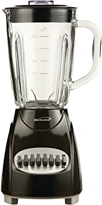 Brentwood JB-920B Appliances 12-Speed Countertop Blender with Glass Jar, Black
