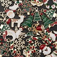 38PACK Christmas Charms Pendants, Sooez Metal Christmas Pendants Christmas Charms for Jewelry Making Crafts Necklace Bracelet Earring, Christmas Charms Bulk Craft Supplies