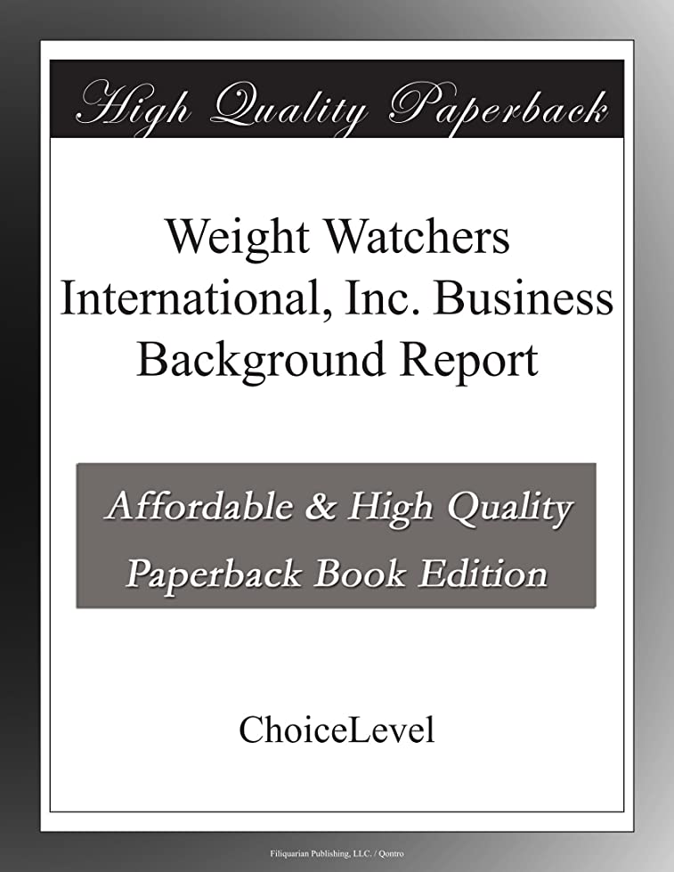 器具ノーブル発見Weight Watchers International, Inc. Business Background Report