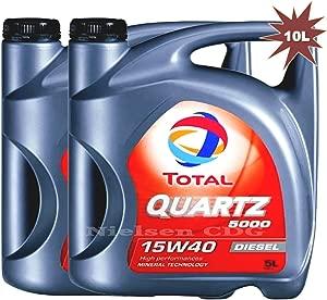 Total Quartz 5000 15w40 Diesel Engine Oil 2x5L Litre