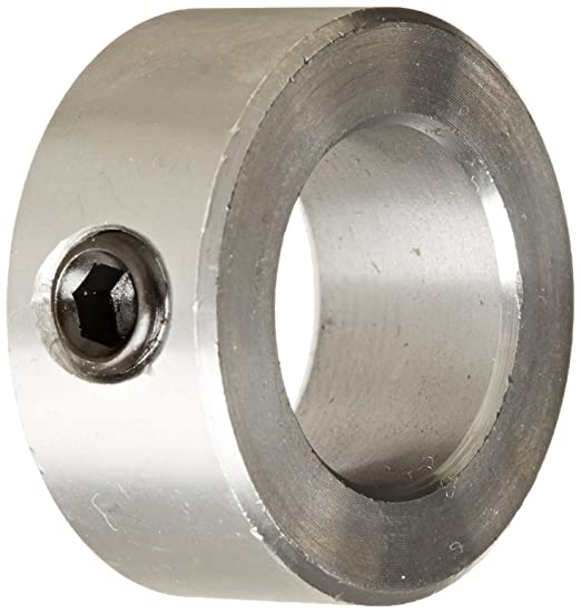 One Piece Climax Metal H1C-218-S T303 Recessed Screw Collar 2-3//16 Bore Size 3-1//2 OD With 5//16-24 x 1 Set Screw Stainless Steel