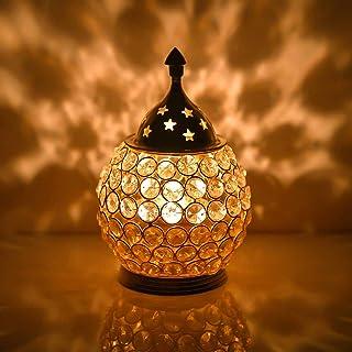 CraftVatika Akhand Diya Crystal Brass Dia Oil Lantern Tealight Holder | X'mas Gifts | X'mas Decoration | X'mas Decorative ...
