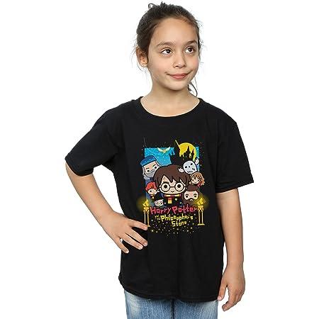 HARRY POTTER niñas Philosopher's Stone Junior Camiseta 12-13 Years Negro