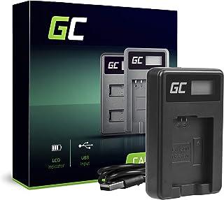 Green Cell BC-TRW Cargador para Sony NP-FW50 Batería y Alpha A7 A7 II A7R A7R II A7S A7S II A5000 A5100 A6000 A6300 A6500 Cámaras (5W 8.4V 0.6A Negro)