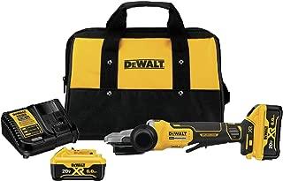DEWALT DCG413FR2 20V Max XR 5In. Flathead Paddle Switch Small Angle Grinder with Kickback Brake Kit