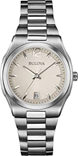 Bulova Classic Quartz Ladies Watch, Stainless Steel, Silver-Tone (Model: 96M126)