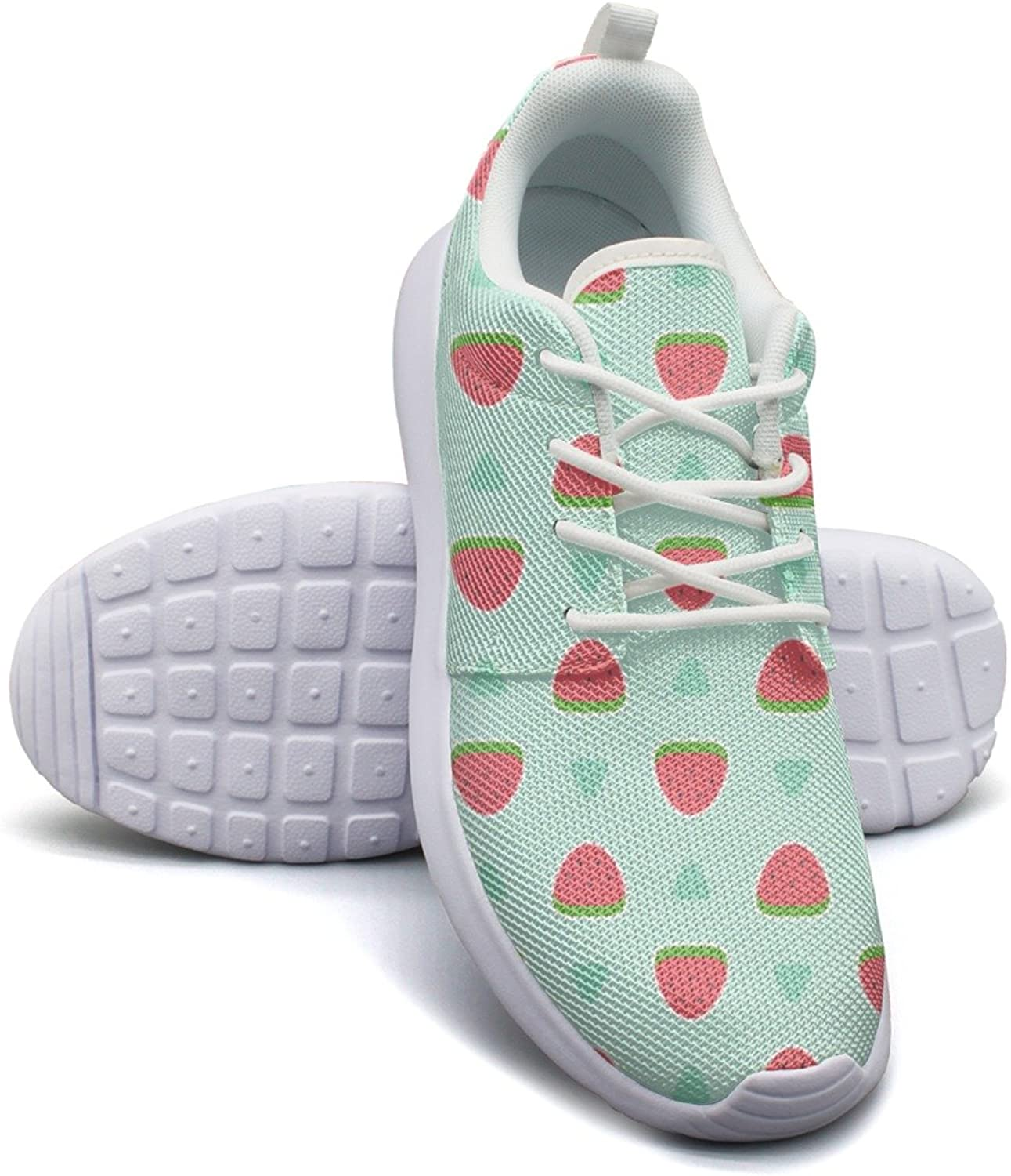 Mini Watermelon in bluee Background Women's Lightweight Mesh Tennis Sneakers Exclusive Gym shoes