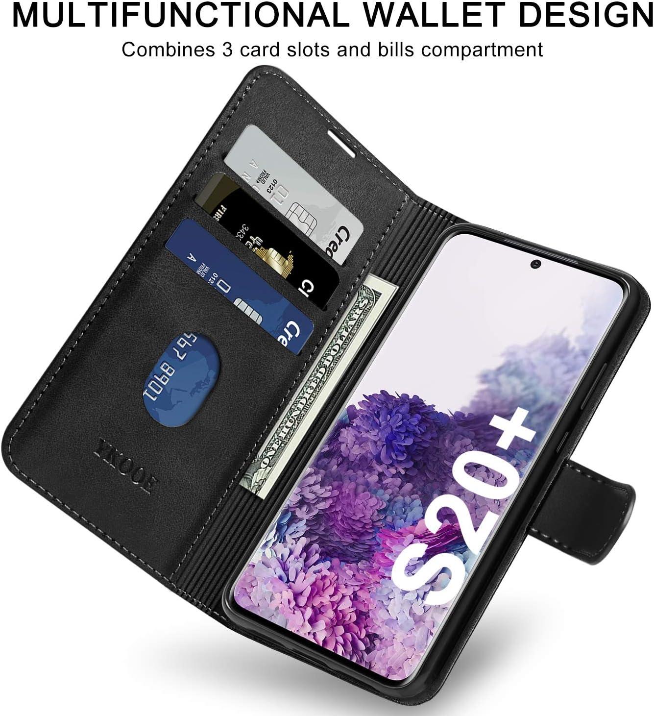 Cierre Magn/ético Negro ykooe Funda para Samsung Galaxy S20 Plus Tarjetero 6.7 Libro de Cuero para Samsung Galaxy S20 Plus Carcasa Samsung Galaxy S20 Plus