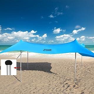 Family Beach Shade Tent Sun Shelter Canopy Pop Up Umbrellas for Sand Portable Cool-Cabanas Lightspeed Best Light Easy Inst...