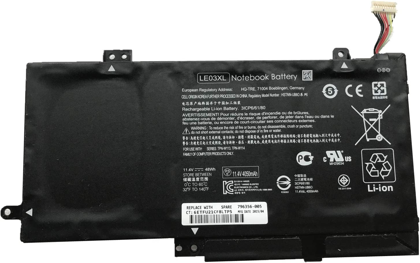 7XINbox 11.4V 48Wh LE03 35% OFF LE03XL Replacement Battery Laptop for All stores are sold HP