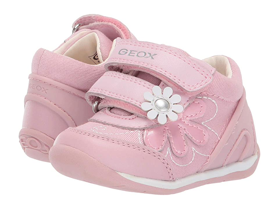 Geox Kids B Each Girl 24 (Infant/Toddler) (Pink/White) Girl
